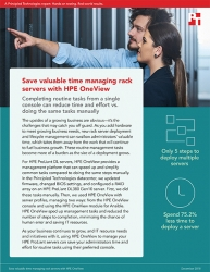 Principled Technologies Releases Study Comparing Rack Server Management and Deployment Times with HPE OneView vs. a Manual Approach