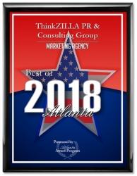 ThinkZILLA PR & Consulting Group Receives 2018 Best Marketing of Atlanta Award