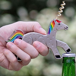 The Unicork Unicorn Bottle Opener & Corkscrew Brings a Smile While Opening Beer & Wine in Time for Christmas