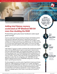 Intel Optane Memory Enabled the HP EliteDesk 800 G4 Desktop to Significantly Outperform Systems with Twice the RAM, Principled Technologies Studies Find