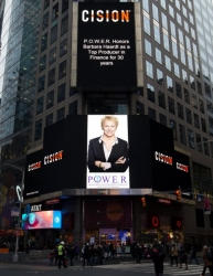 Barbara S. Haardt Showcased on the Reuters Billboard in Times Square in New York City by P.O.W.E.R. (Professional Organization of Women of Excellence Recognized)