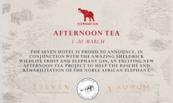 Seven Hotel and Elephant Gin Afternoon Tea with Sheldrick Wildlife Trust - Southend-on-Sea