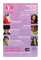 In Recognition of Black History Month, Positive Women United Presents a Free Female-Empowered Community Outreach Event in Queens, New York
