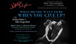 "Jump Rhythm®  and Ed and Helen Nicoll  to Present ""What Do You Want to Be When You Give Up?"""