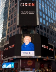 Glenda W. Reitzell Showcased on the Reuters Billboard in Times Square in New York City by P.O.W.E.R. (Professional Organization of Women of Excellence Recognized)
