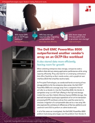 Principled Technologies Publishes Results from Hands-on Testing of the Dell EMC PowerMax 8000 All-Flash NVMe Array and the Array of a Competitor
