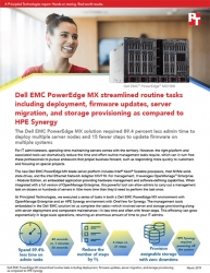 Principled Technologies Publishes Results from Hands-on Testing Comparing Management Tasks on Dell EMC PowerEdge MX and HPE Synergy