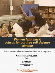 Women Fight Back. Free Self Defense Seminar.