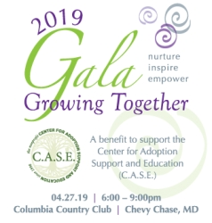 State and County Officials and Top Business Leaders Will Attend Center for Adoption Support and Education's 2019 Growing Together Gala April 27, 2019