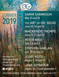 Ocean Galleries Announces 2019 Summer Art Exhibitions - Stone Harbor, NJ Gallery to Host Seven Extraordinary Exhibits with Guest Artists