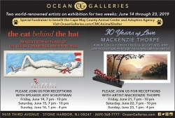 June Art Exhibits at Ocean Galleries Raise Money for Cape May County Animal Shelter - Mackenzie Thorpe and Dr. Seuss Donated Artwork to be Auctioned