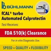 BÜHLMANN Laboratories AG Receives FDA Clearance for Its fCAL® turbo Automated, Random Access Calprotectin Test