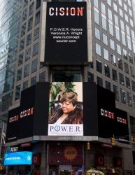 Veronica A. Wright Honored on the Reuters Billboard in Times Square in New York City by P.O.W.E.R. (Professional Organization of Women of Excellence Recognized)