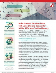 Principled Technologies Releases Study Comparing the Performance of Toshiba Memory Value SAS and Data Center NVMe SSDs with That of Enterprise SATA SSDs
