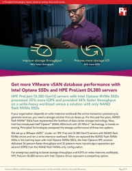 Principled Technologies Compares VMware vSAN Performance on HPE ProLiant DL380 Servers with Intel Optane NVMe SSDs vs. NAND Flash NVMe SSDs