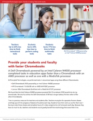 Principled Technologies Study - A Chromebook Powered by an Intel Celeron N4000 CPU Was Faster in Education Apps Than Two Chromebooks with Processors from Other Vendors