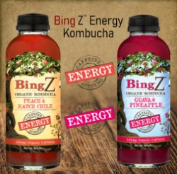 "Bing Beverage Company (""BING"") of Denver, Colorado, Maker of Bing® Caffeinated Juices and Bing Z™ Organic Kombuchas, Launching New ""Energy Kombuchas"""