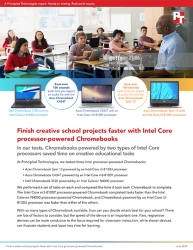 Chromebooks Powered by Intel Core Processors Could Save Students Time on Creative School Projects, Principled Technologies Study Shows