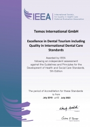 Temos Dental Standards Accredited by ISQua/IEEA Four New Accreditation Options Designed by Dentists for Dentists