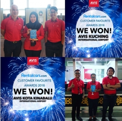 Avis Malaysia Wins the Prestigious Rentalcars.com Award for Outstanding Customer Experience