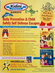 Kidini Karate is New on Amazon; Back to School Bully Prevention for Kids 3-8 Years Old