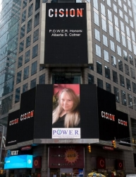 Alberta S. Cotner Honored as a Woman of the Month and Showcased on the Reuters Billboard by P.O.W.E.R. (Professional Organization of Women of Excellence Recognized)
