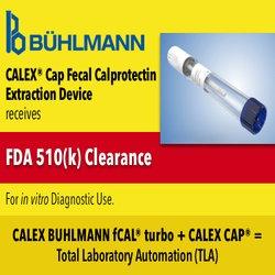 BÜHLMANN Laboratories AG Receives FDA Clearance for CALEX® Cap Fecal Calprotectin Extraction Device
