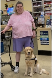 Psychiatric Service Dog Delivered by True Blue Service Dogs (TBSD) to a Very Lucky Woman in Tacoma, WA