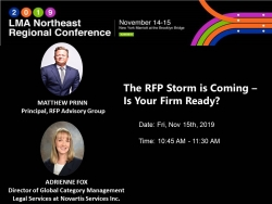 Matthew Prinn of RFP Advisory Group Selected to Speak at 2019 Legal Marketing Association Northeast Regional Conference