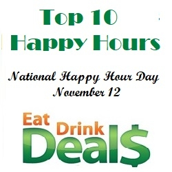 Top 10 List for National Happy Hour Day