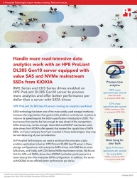 Value SAS and NVMe Mainstream SSDs from KIOXIA Enabled a Server to Handle More Data Analytics in Principled Technologies Study