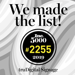Inc. Magazine Reveals truDigital Signage as One of America's Fastest-Growing Private Companies