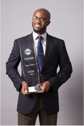 Aaron Beverly, the 2019 World Champion of Public Speaking, is Keynote Speaker for the Kansas City Toastmasters Leadership Institute (TLI), December 7, 2019