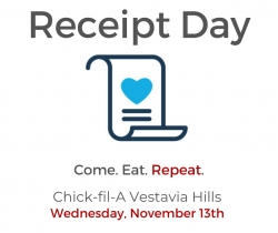 Receipt Day at Chick-fil-A Vestavia Hills