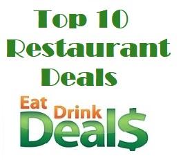 EatDrinkDeals Names Top 10 Restaurant Deals for 2019