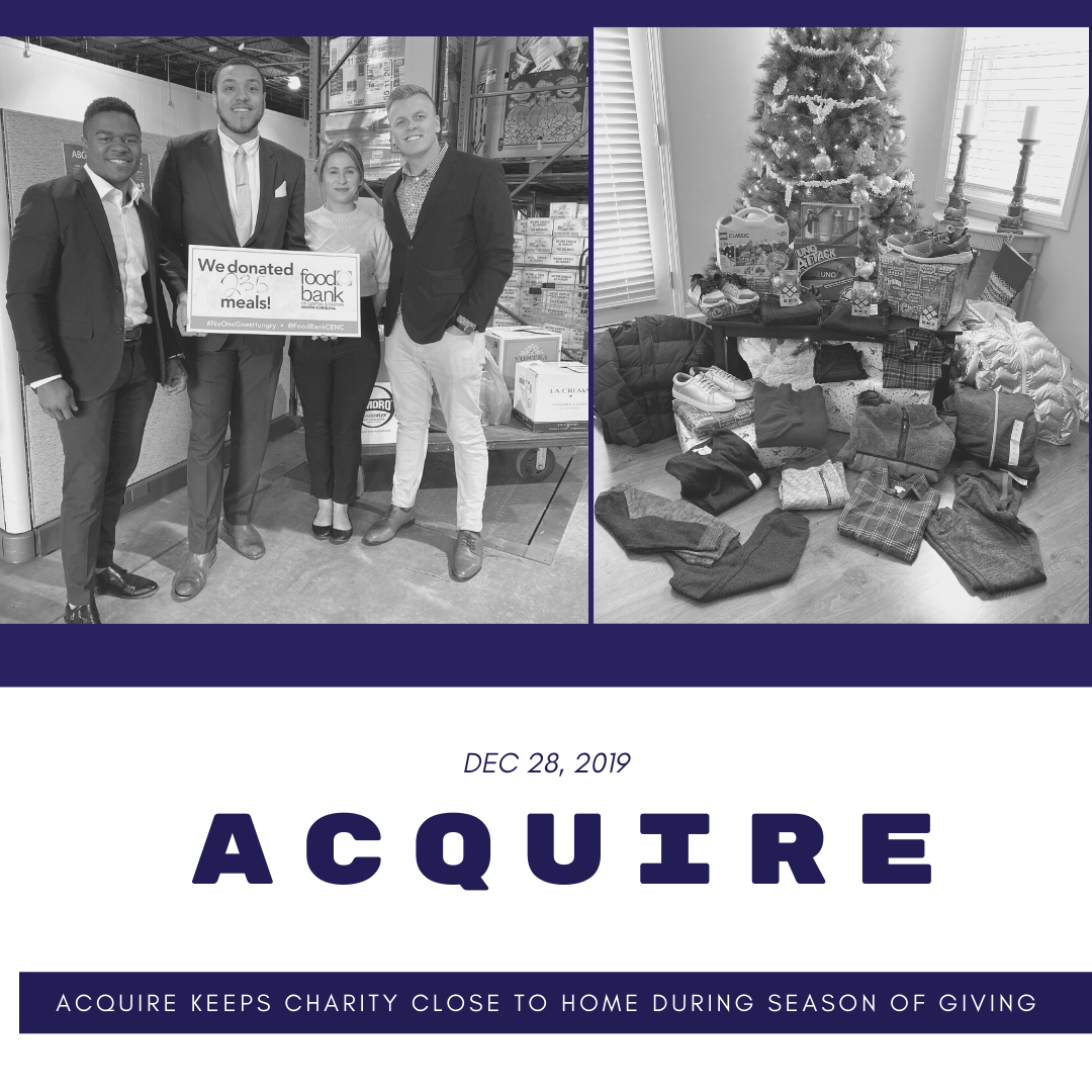 Acquire Keeps Charity Close to Home During Season of Giving