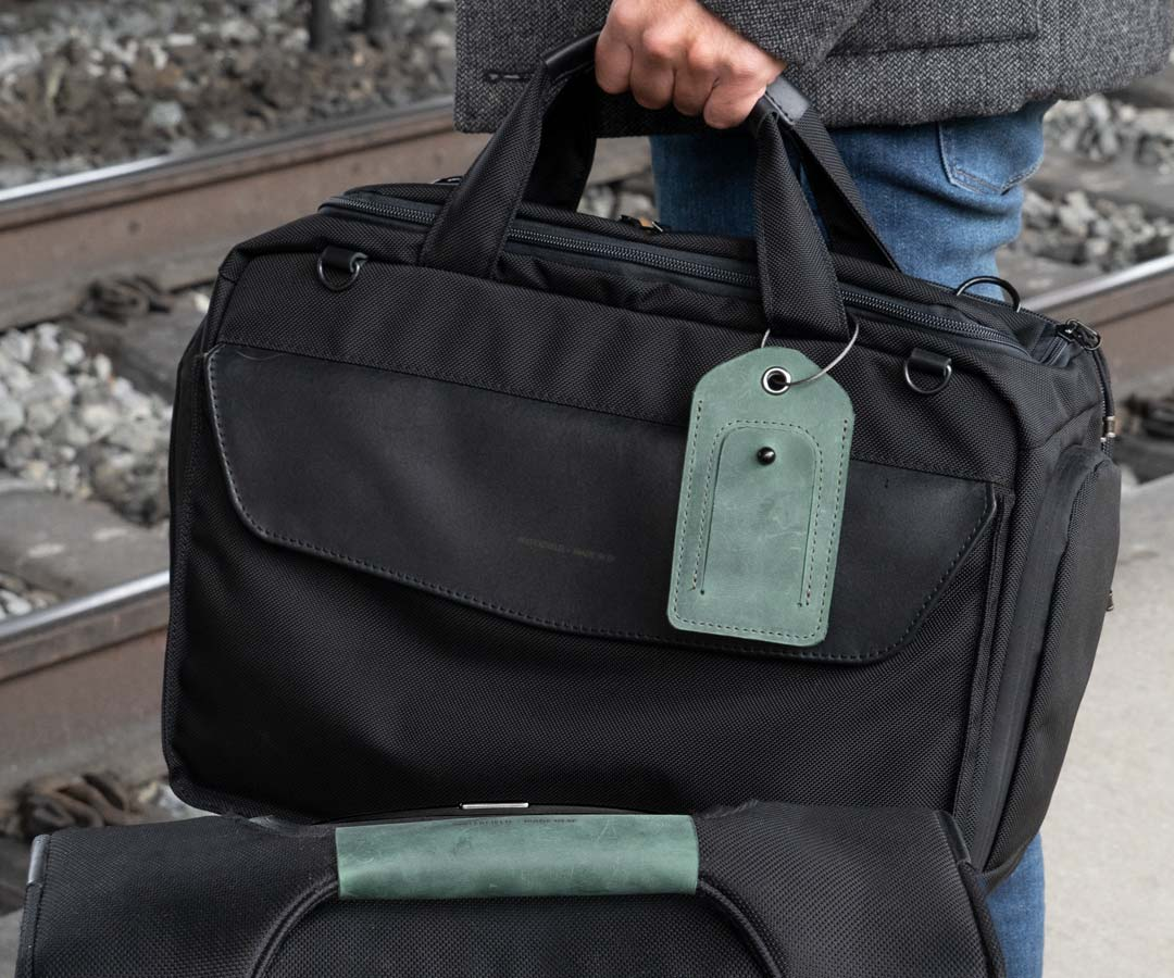 WaterField Unveils Crowdsourced Leather Luggage Tag & Handle Wrap for Holiday Travels