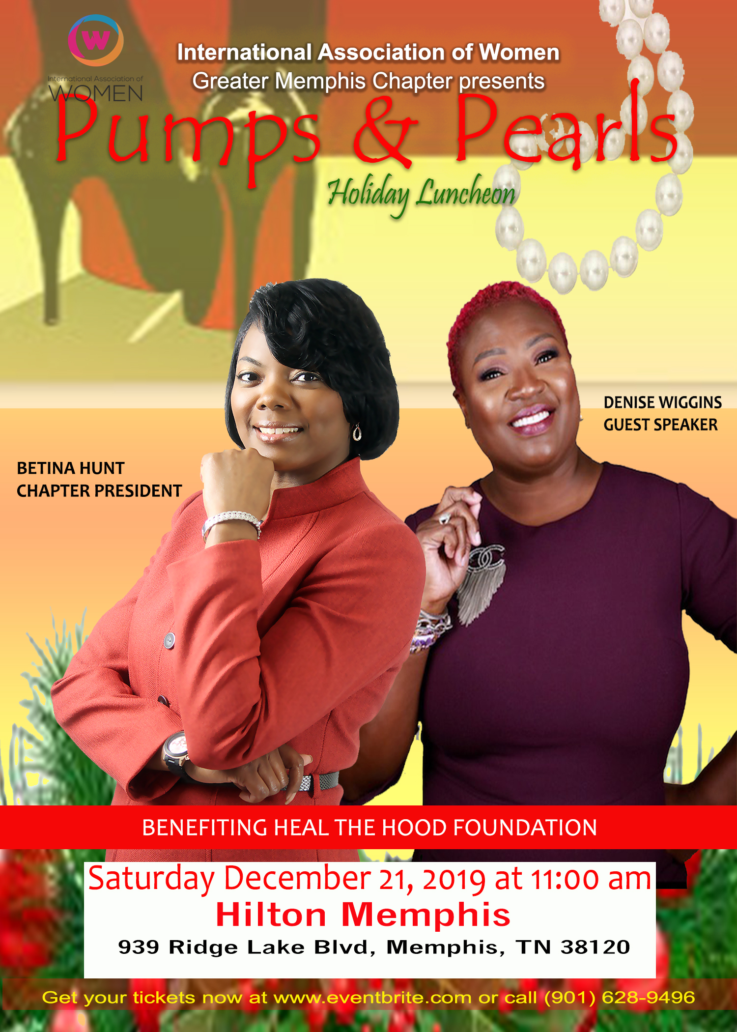 Greater Memphis Chapter of International Association of Women Pumps & Pearls Holiday Luncheon