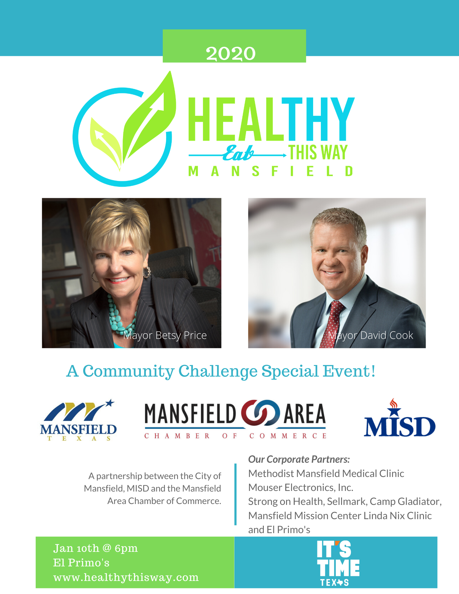 Mansfield Texas is Hosting a Healthy This Way Event That Will Include Mayor Betsy Price of Fort Worth
