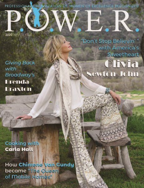 POWER Magazine's Winter 2020 Issue Highlights Olivia Newton-John and Other Amazing Women Who Give Back by Helping Others