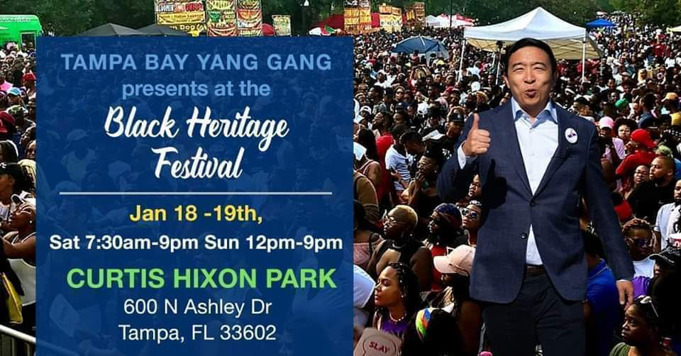 Tampa Bay Yang Gang Announces Cash Prize Giveaway at Tampa Bay Black Heritage Festival