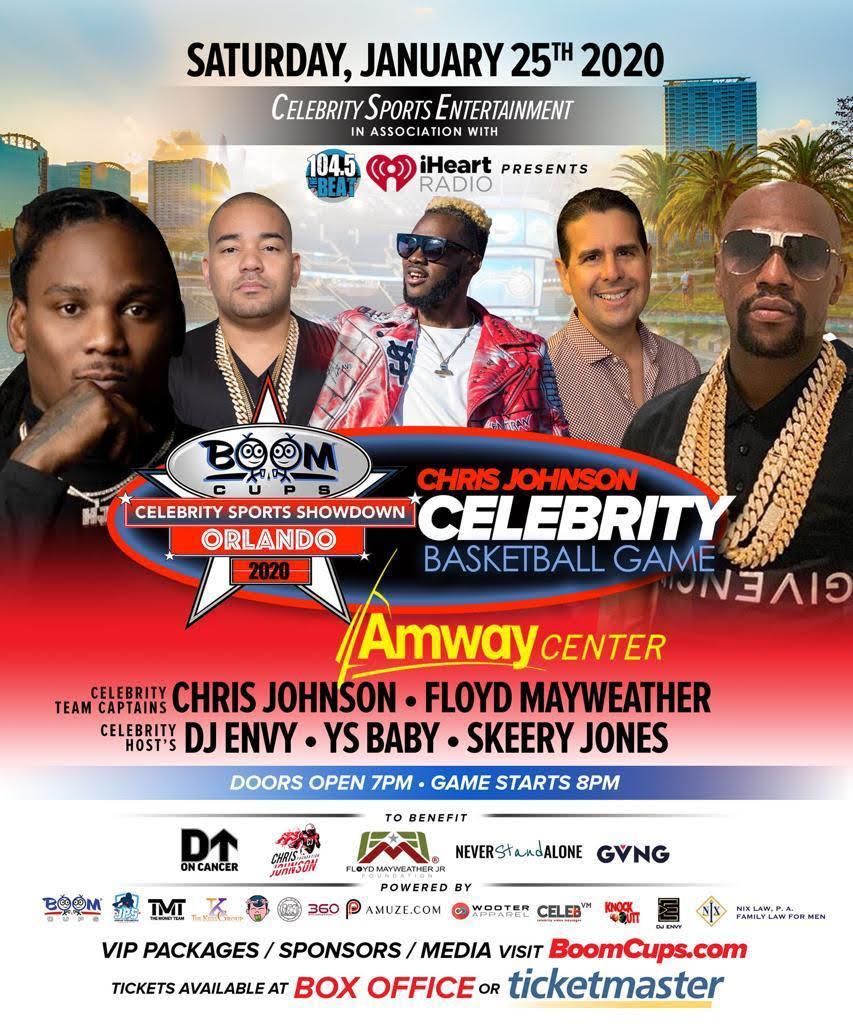 Boom Cups Celebrity Sports Showdown (Orlando) 2020 Chris Johnson Celebrity Basketball Game
