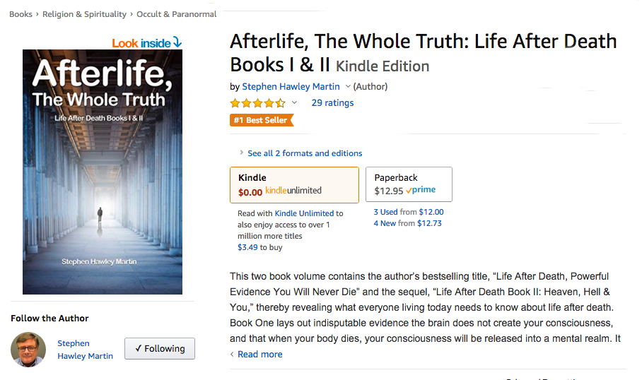 Book Giving Evidence Consciousness Survives Death is Now a Number-One Bestseller
