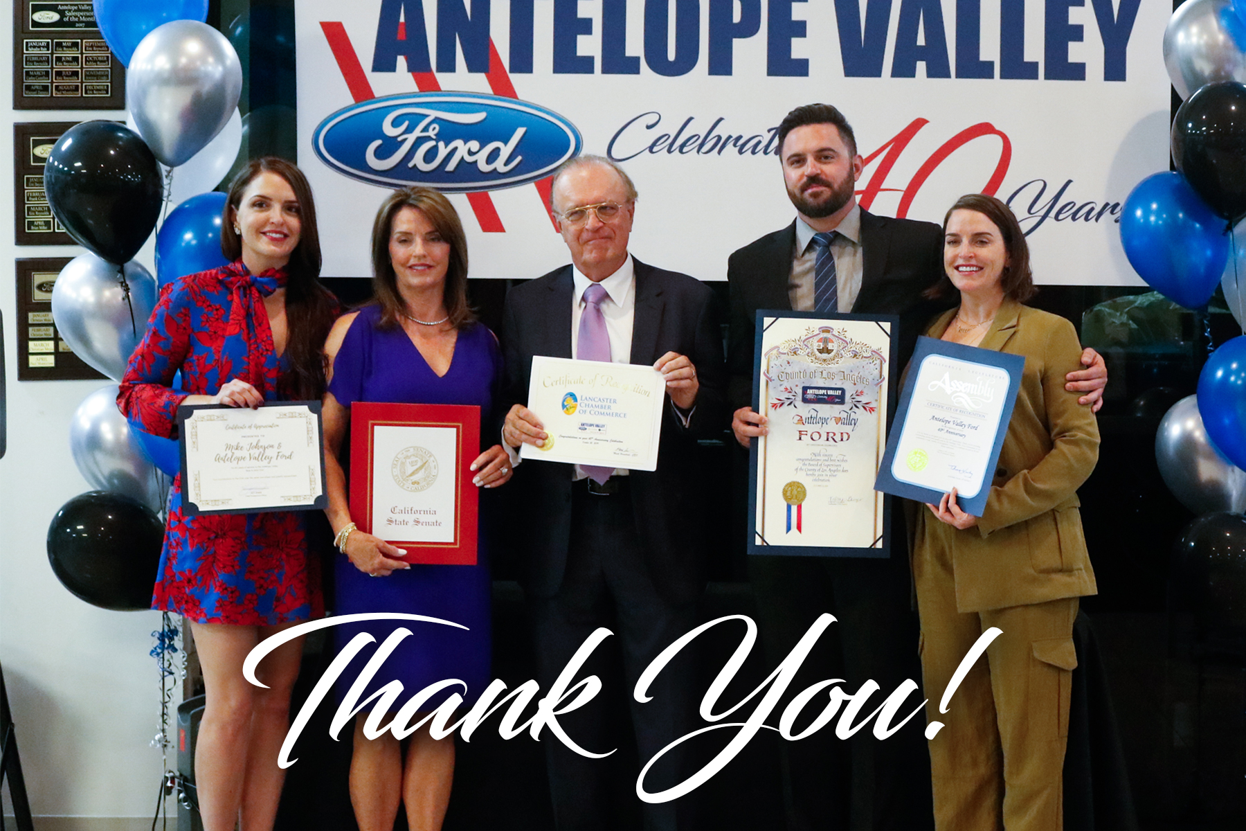 Mike Johnson and Antelope Valley Ford Celebrate 40 Years of Service in Lancaster, CA