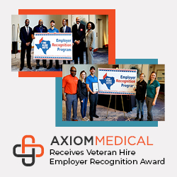 Axiom Medical Receives Veteran Hire Employer Recognition Award