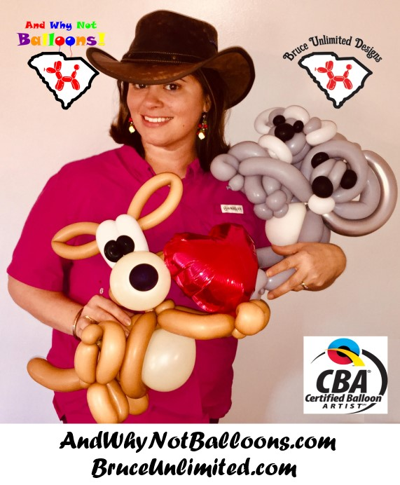 Local Artist Amanda Bruce of Bruce Unlimited Designs and Why Not Balloons Achieves Industry Leading Certification, Pledges Profits from Successful Businesses to Charity