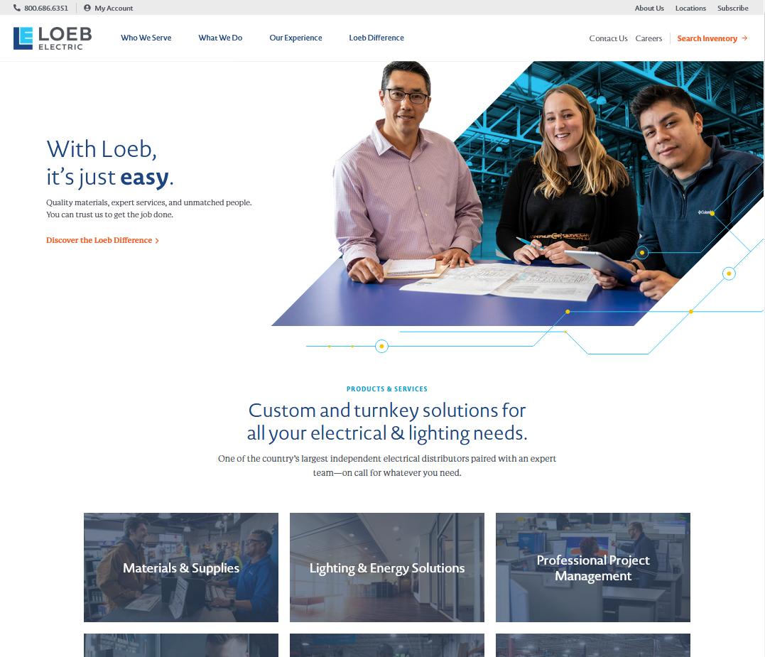 Loeb Electric Announces New Website and Rebranding