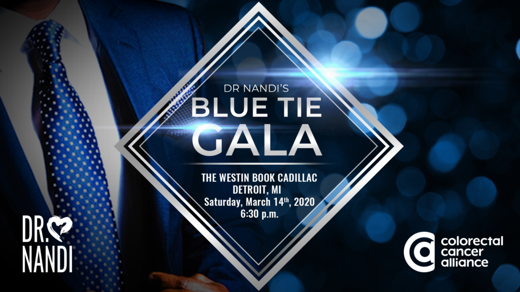 Dr. Nandi's Blue Tie Gala Takes Aim at Colon Cancer - a Benefit to Take Place March 14 in Detroit