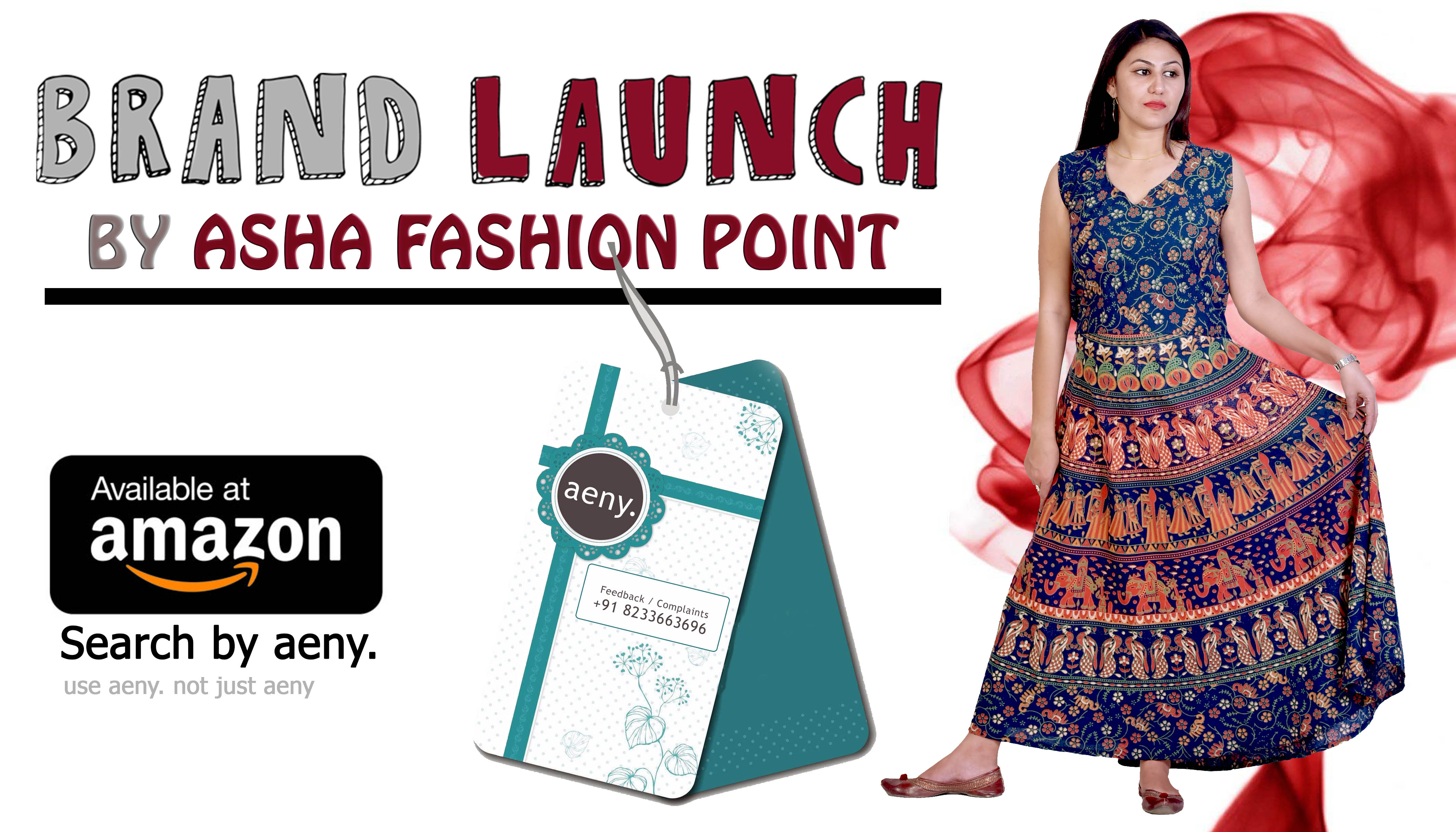 Asha Fashion Point in Jaipur Has Launched a New Brand AENY. to Introduce Rajasthani Avtaar Maxi Dresses