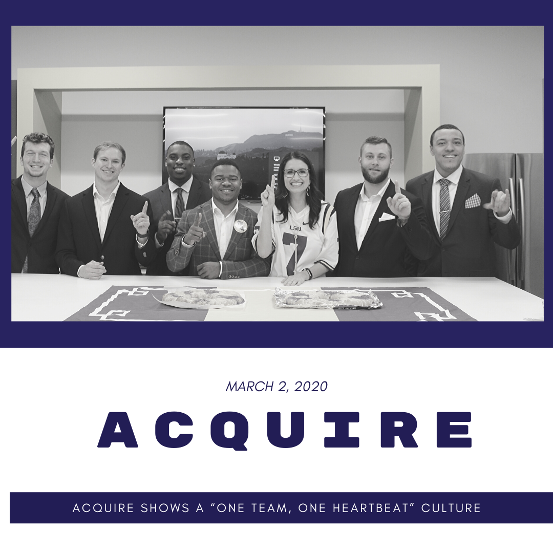 """Acquire Shows a """"One Team, One Heartbeat"""" Culture"""